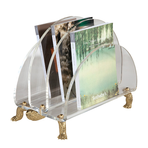 Maitland-Smith - Clear Acrylic Magazine Rack - 1343-426