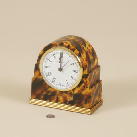 Maitland-Smith - Faux Tortoise Table Top Clock - 1343-429