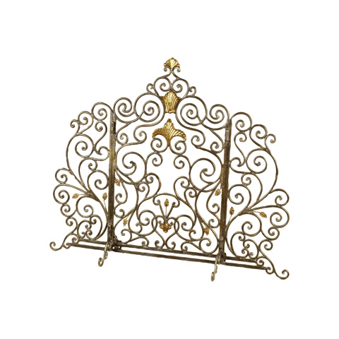 Maitland-Smith - Black Wrought Iron Fire Screen - 1351-345