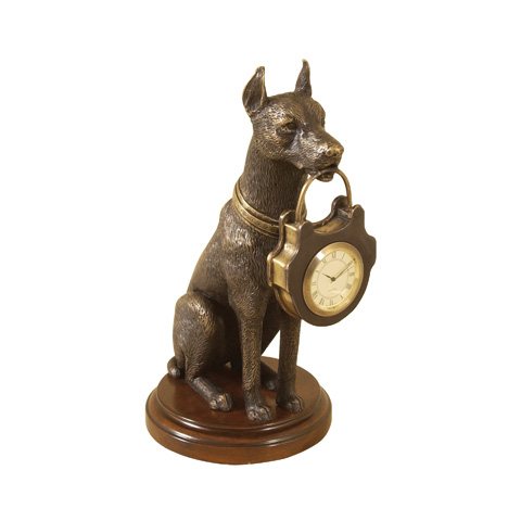 Image of Cast Brass Miniature Clock