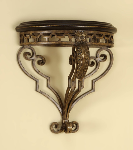 Maitland-Smith - Brown Leather Wall Bracket - 1451-003H