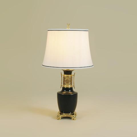 Maitland-Smith - Black Waxstone Inlaid Table Lamp - 1700-407