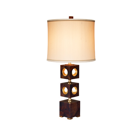 Maitland-Smith - Brown Penshell Inlaid Table Lamp - 1700-416