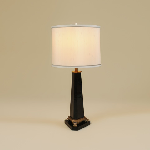 Maitland-Smith - Black Penshell Inlaid Table Lamp - 1700-421