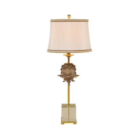 Maitland-Smith - Amber Brass Leaf Table Lamp - 1730-252