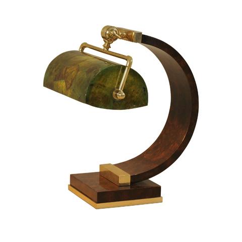 Maitland-Smith - European Walnut Burl Desk Lamp - 1730-258