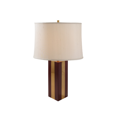 Maitland-Smith - Leather and Brass Table Lamp - 1743-211