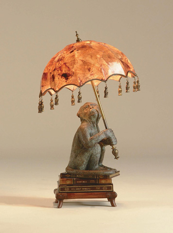 Maitland-Smith - Monkey on Books Desk Lamp - 1753-884
