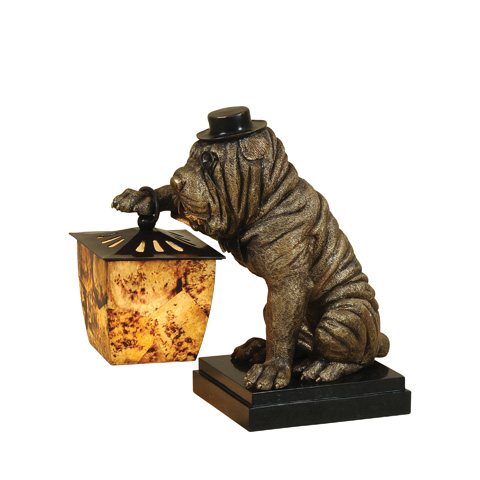 Maitland-Smith - Antique and Ebony Brass Lamp - 1754-841