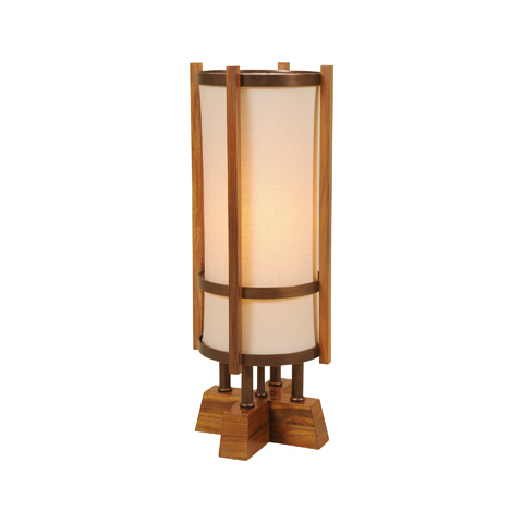Maitland-Smith - Japan Teakwood Torchere Table Lamp - 1754-856
