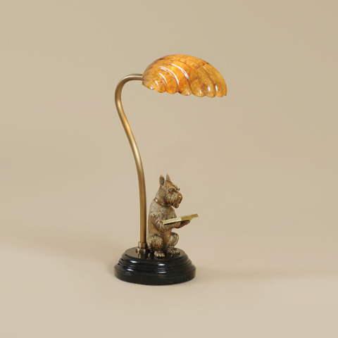 Maitland-Smith - Antique Polished Brass Dog Desk Lamp - 1754-875