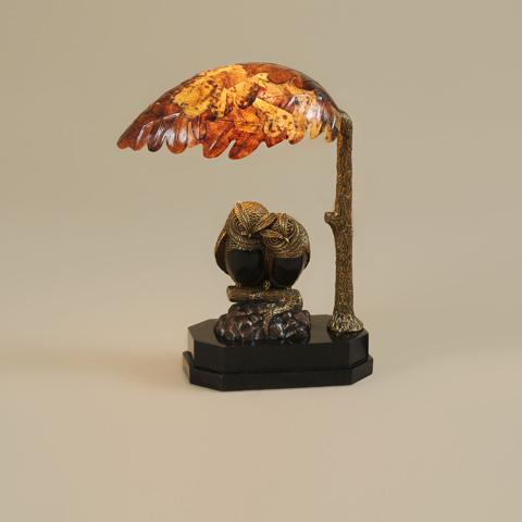 Maitland-Smith - Vintage Gold Owl Lamp - 1754-877