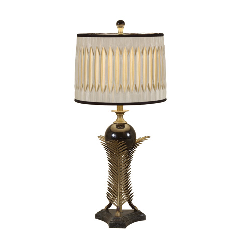 Maitland-Smith - Antique Brass Leaf Table Lamp - 1758-329