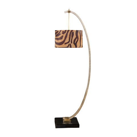Maitland-Smith - Silver Leafed Finished Iron Floor Lamp - 1851-511