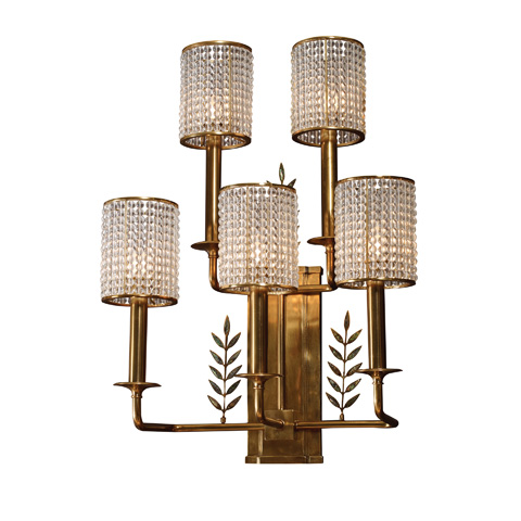 Maitland-Smith - Five Arm Brass Wall Sconce - 1954-356