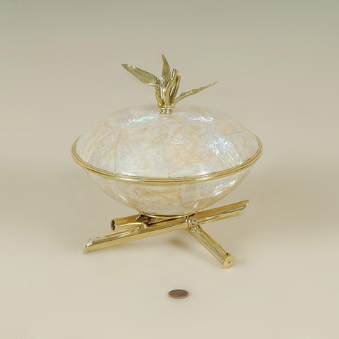 Maitland-Smith - Inlaid Bowl with Lid - 2100-460