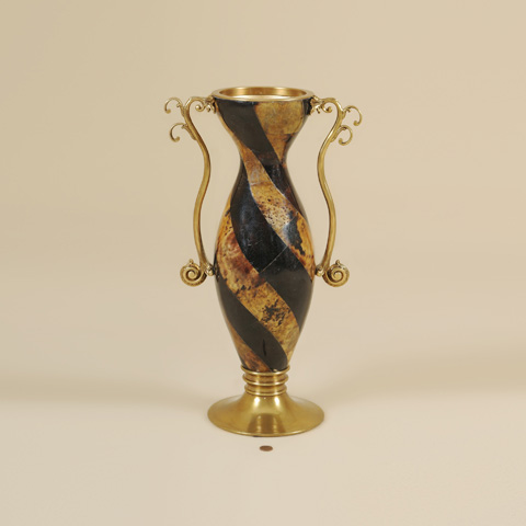 Maitland-Smith - Tiger and Black Penshell Inlaid Vase - 2100-469