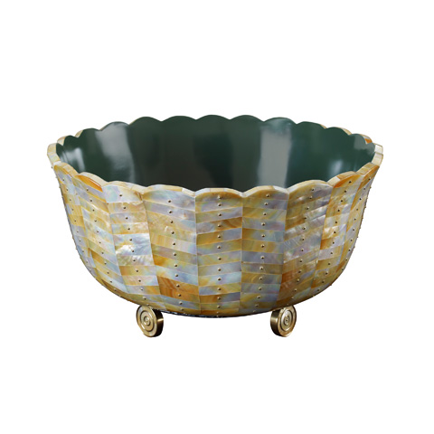 Maitland-Smith - Mother of Pearl Inlay Bowl - 2100-471
