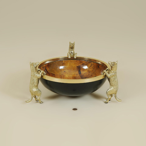 Maitland-Smith - Leather and Penshell Inlaid Bowl - 2154-566