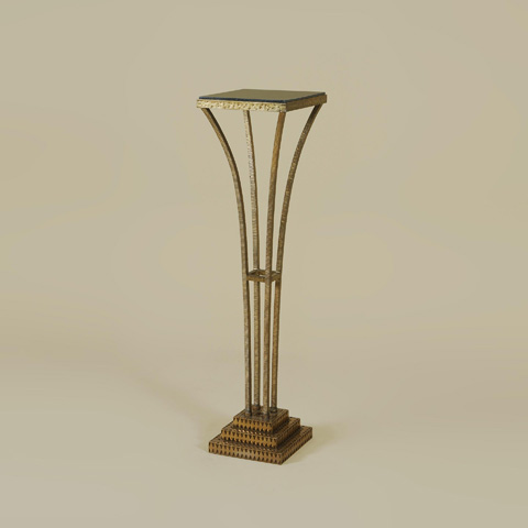 Image of Textured Gold Iron Pedestal