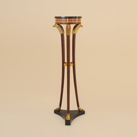 Image of Painted Brown Patina Pedestal