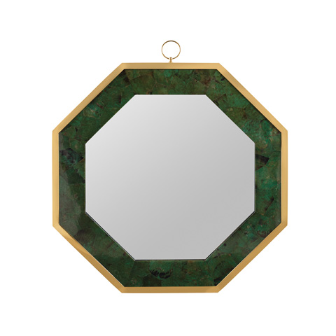 Maitland-Smith - Emerald Green Penshell Mirror - 2800-438