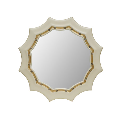 Maitland-Smith - Cream Lacquer Finished Mirror - 2843-480