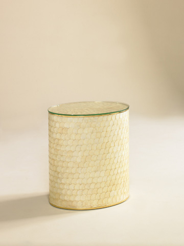 Maitland-Smith - Capiz Shell Occasional Table - 3000-078