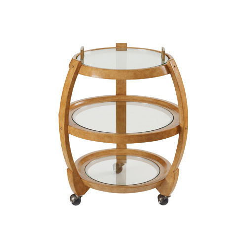Maitland-Smith - Leather Inlaid Bar Cart - 3020-043