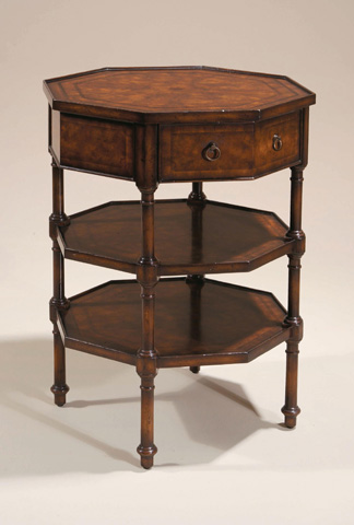 Maitland-Smith - Dark Burnished Three Tier Table - 3030-642