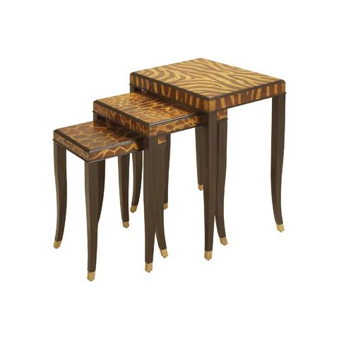 Maitland-Smith - Ebony Nest of Three Tables - 3030-895
