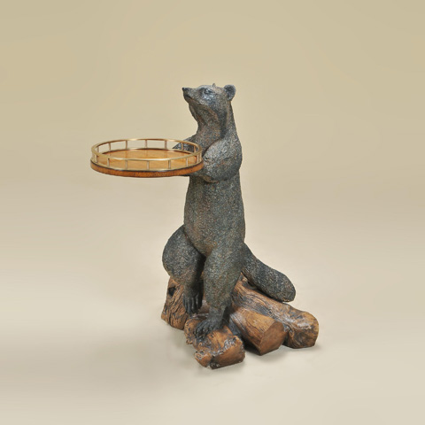Image of Cast Resin Raccoon Table