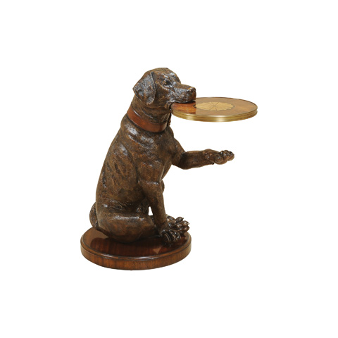 Maitland-Smith - Metallic Brown Dog with Tray Table - 3043-216