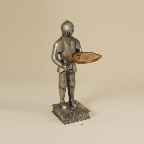 Maitland-Smith - Cast Resin Armored Knight Table - 3043-219