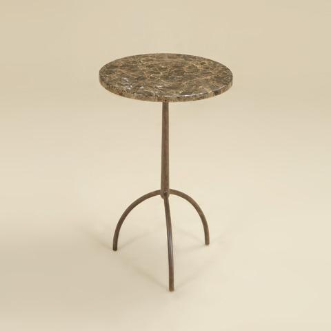 Maitland-Smith - Rusty Iron Stone Top Table - 3051-278