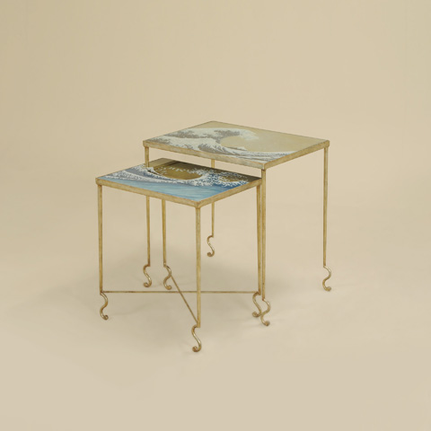 Maitland-Smith - Set of Two Gilded Iron Nesting Tables - 3051-283
