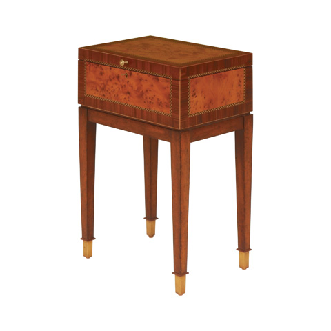 Maitland-Smith - Yew Wood Parquetry Box on Stand - 3230-575