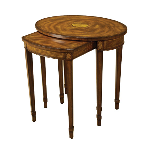 Maitland-Smith - Set of Two Aged Regency Nesting Tables - 3230-725