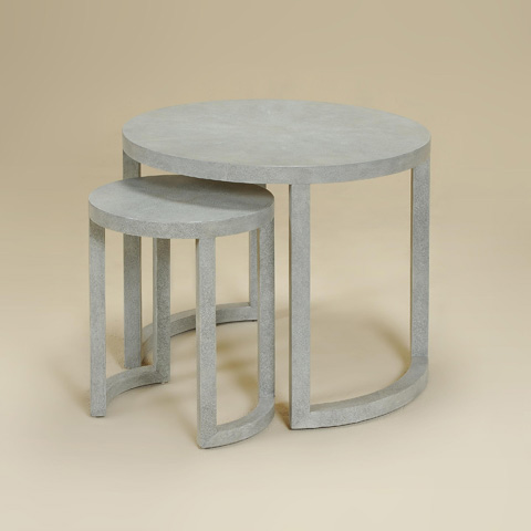 Maitland-Smith - Shagreen Leather Nest of Tables - 3230-888