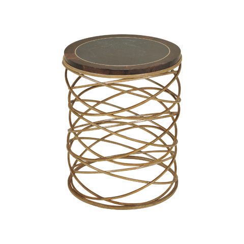 Maitland-Smith - Gold Tone Round Iron Occasional Table - 3251-428