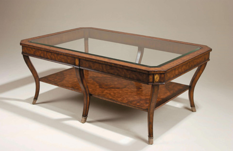 Maitland-Smith - Laurel Burl Cocktail Table with Shelf - 3330-622