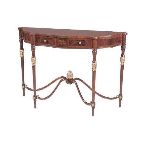 Maitland-Smith - Crotch Mahogany Late Georgian Console Table - 3440-021