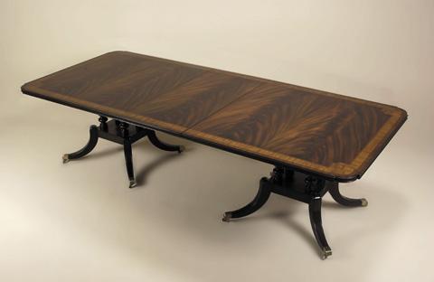 Maitland-Smith - Mahogany Crotch Mahogany Dining Table - 3530-208