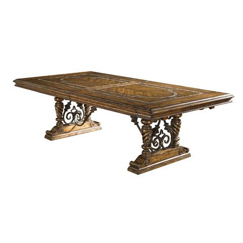 Maitland-Smith - Dark Wellington Cottage Dining Table - 3530-245