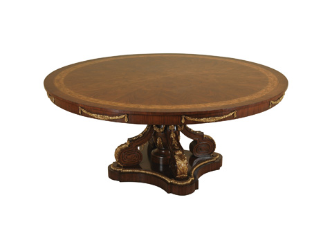 Maitland-Smith - Fontainebleau Dining Table with Gold Base - 3530-323