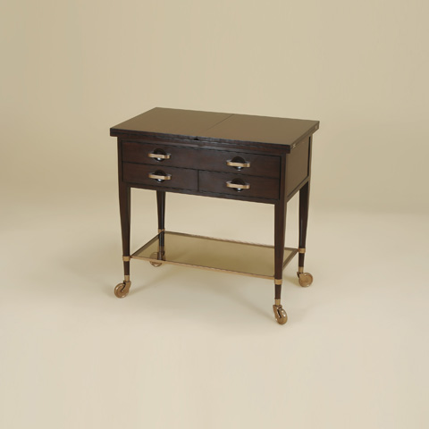 Image of Dark Vintage Serving Cart