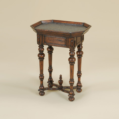 Maitland-Smith - Catalan Occasional Table with Brass Top - 3630-081