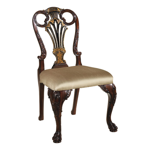 Maitland-Smith - Mahogany and Black Chinoiserie Side Chair - 4030-639