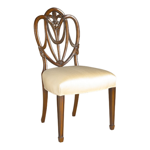 Maitland-Smith - Heart Shaped Shield Back Side Chair - 4030-655