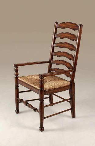 Maitland-Smith - Umber Mahogany Ladderback Armchair - 4130-559